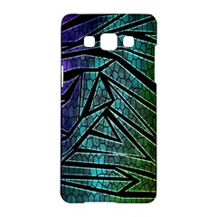 Abstract Background Rainbow Metal Samsung Galaxy A5 Hardshell Case