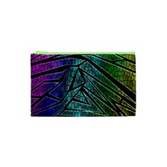 Abstract Background Rainbow Metal Cosmetic Bag (XS)