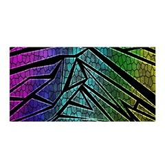 Abstract Background Rainbow Metal Satin Wrap