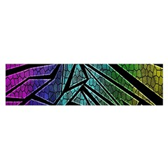 Abstract Background Rainbow Metal Satin Scarf (Oblong)
