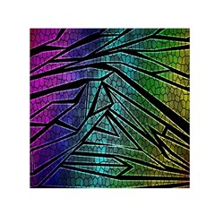 Abstract Background Rainbow Metal Small Satin Scarf (Square)