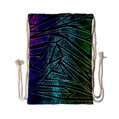 Abstract Background Rainbow Metal Drawstring Bag (Small)