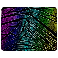 Abstract Background Rainbow Metal Jigsaw Puzzle Photo Stand (Rectangular)