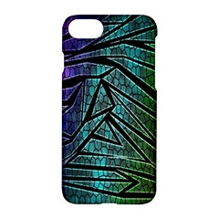 Abstract Background Rainbow Metal Apple iPhone 7 Hardshell Case