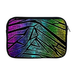 Abstract Background Rainbow Metal Apple MacBook Pro 17  Zipper Case