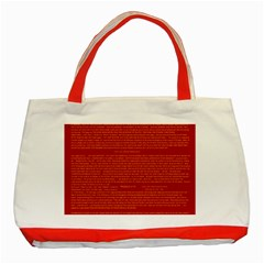 Writing Grace Classic Tote Bag (Red)