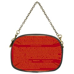 Writing Grace Chain Purses (One Side)