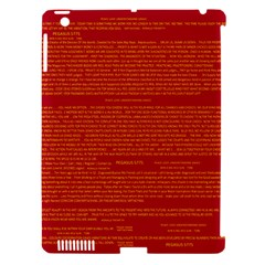 Writing Grace Apple iPad 3/4 Hardshell Case (Compatible with Smart Cover)