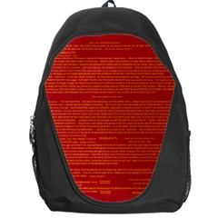 Writing Grace Backpack Bag