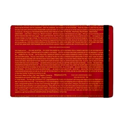 Writing Grace Apple iPad Mini Flip Case