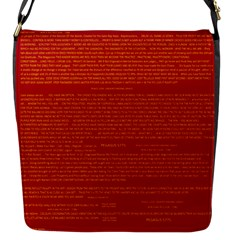 Writing Grace Flap Messenger Bag (S)