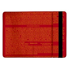 Writing Grace Samsung Galaxy Tab Pro 12 2  Flip Case
