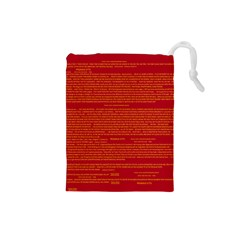 Writing Grace Drawstring Pouches (Small)