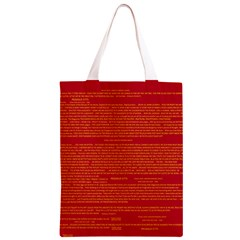 Writing Grace Classic Light Tote Bag