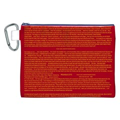 Writing Grace Canvas Cosmetic Bag (XXL)
