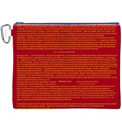 Writing Grace Canvas Cosmetic Bag (XXXL)