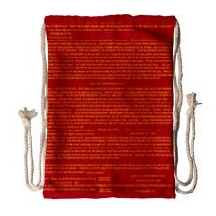 Writing Grace Drawstring Bag (Large)