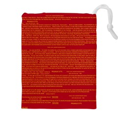 Writing Grace Drawstring Pouches (XXL)