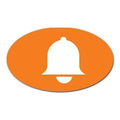 Bell Orange Copy Oval Magnet