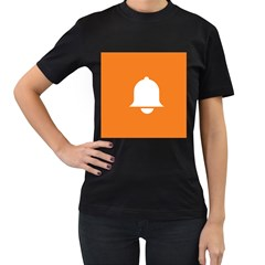 Bell Orange Copy Women s T-Shirt (Black) (Two Sided)