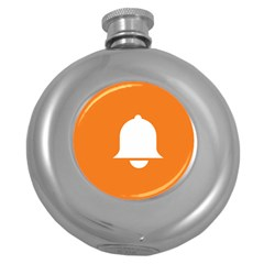 Bell Orange Copy Round Hip Flask (5 oz)