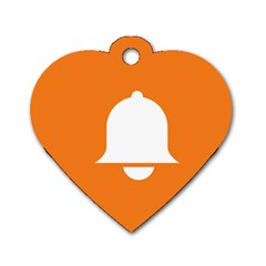 Bell Orange Copy Dog Tag Heart (Two Sides)