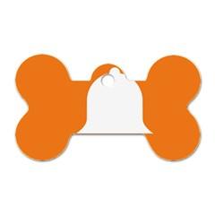 Bell Orange Copy Dog Tag Bone (One Side)