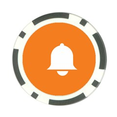 Bell Orange Copy Poker Chip Card Guards