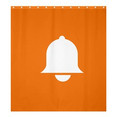 Bell Orange Copy Shower Curtain 66  x 72  (Large)