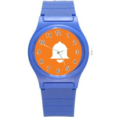 Bell Orange Copy Round Plastic Sport Watch (S)