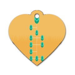 A Community Manager Los Que Aspirants Dog Tag Heart (one Side)