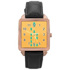 A Community Manager Los Que Aspirants Rose Gold Leather Watch