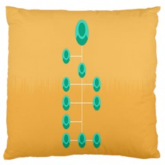 A Community Manager Los Que Aspirants Large Flano Cushion Case (One Side)