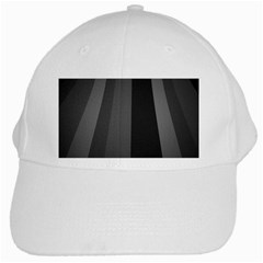 Black Minimalistic Gray Stripes White Cap