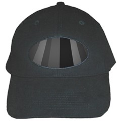 Black Minimalistic Gray Stripes Black Cap