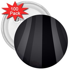 Black Minimalistic Gray Stripes 3  Buttons (100 pack)