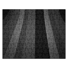 Black Minimalistic Gray Stripes Rectangular Jigsaw Puzzl