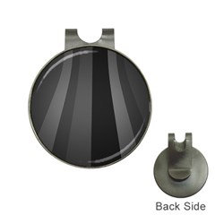 Black Minimalistic Gray Stripes Hat Clips with Golf Markers