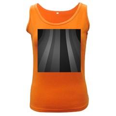 Black Minimalistic Gray Stripes Women s Dark Tank Top