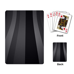 Black Minimalistic Gray Stripes Playing Card