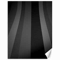 Black Minimalistic Gray Stripes Canvas 18  x 24