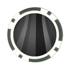 Black Minimalistic Gray Stripes Poker Chip Card Guards