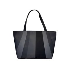 Black Minimalistic Gray Stripes Shoulder Handbags