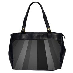 Black Minimalistic Gray Stripes Office Handbags (2 Sides)