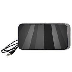Black Minimalistic Gray Stripes Portable Speaker (Black)