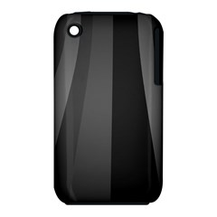 Black Minimalistic Gray Stripes iPhone 3S/3GS