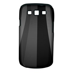 Black Minimalistic Gray Stripes Samsung Galaxy S III Classic Hardshell Case (PC+Silicone)