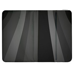 Black Minimalistic Gray Stripes Samsung Galaxy Tab 7  P1000 Flip Case