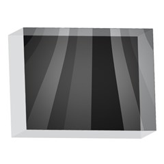 Black Minimalistic Gray Stripes 5 x 7  Acrylic Photo Blocks