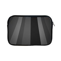 Black Minimalistic Gray Stripes Apple iPad Mini Zipper Cases